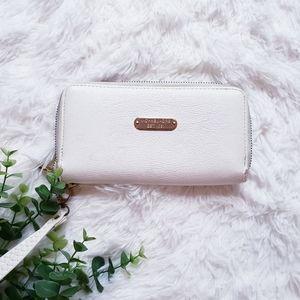 🛍Michael kors white double zipper wallet